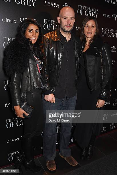 Serena Rees Jake Chapman and Rosemary Ferguson attend an after party following the UK Premiere of 'Fifty Shades Of Grey' at aqua London on February...