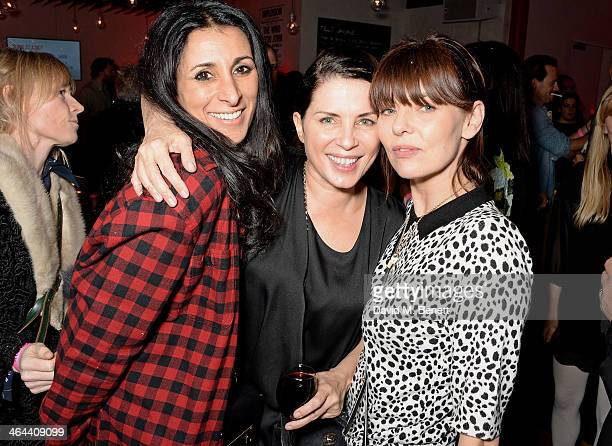 Serena Rees Sadie Frost and Jemima French attend an after party following Roundhouse ambassador Sadie Frost's performance with FUERZABRUTA at The...