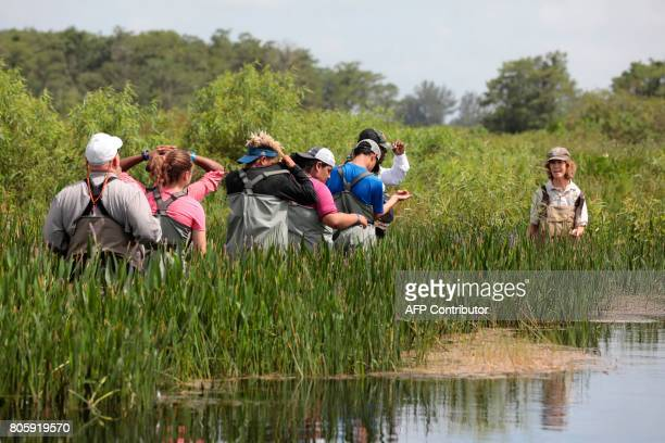 Serena Rinker US Fish Wildlife Service officer speaks with a Soul River group during a river training at the Arthur R Marshall Loxahatchee National...