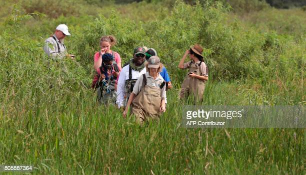 Serena Rinker US Fish Wildlife Service officer walks with a Soul River group during a river training at the Arthur R Marshall Loxahatchee National...
