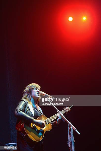 Serena Ryder performs at Hard Rock Live in the Seminole Hard Rock Hotel Casino on August 13 2013 in Hollywood Florida