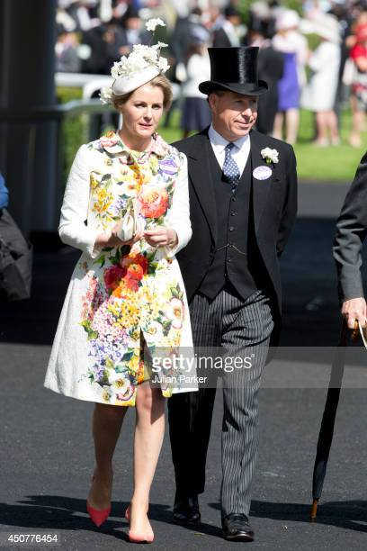 Serena Viscountess Linley and Viscount Linley attend Day 1 of Royal Ascot at Ascot Racecourse on June 17 2014 in Ascot England
