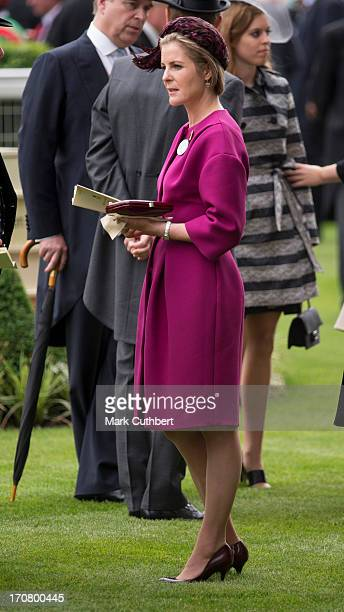 Serena Viscountess Linley attends Day 1 of Royal Ascot at Ascot Racecourse on June 18 2013 in Ascot England