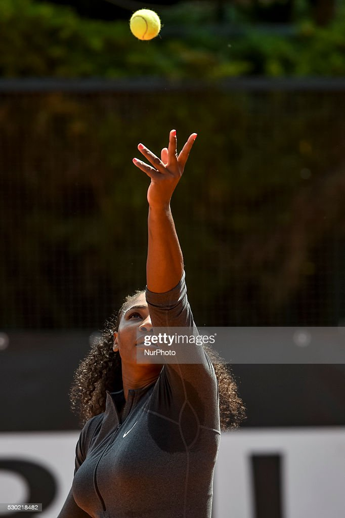 Serena William during the double WTA match Venus and Serena Williams vs Andreja Klepac and Katarina Srebotnik at the Internazionali BNL d'Italia 2016...