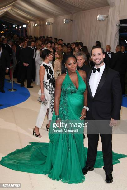 Serena Williams and Alexis Ohanian attend 'Rei Kawakubo/Comme des Garcons Art Of The InBetween' Costume Institute Gala Arrivals at Metropolitan...