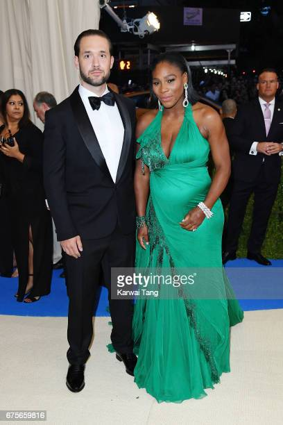 Serena Williams and Alexis Ohanian attend 'Rei Kawakubo/Comme des Garcons Art Of The InBetween' Costume Institute Gala at Metropolitan Museum of Art...