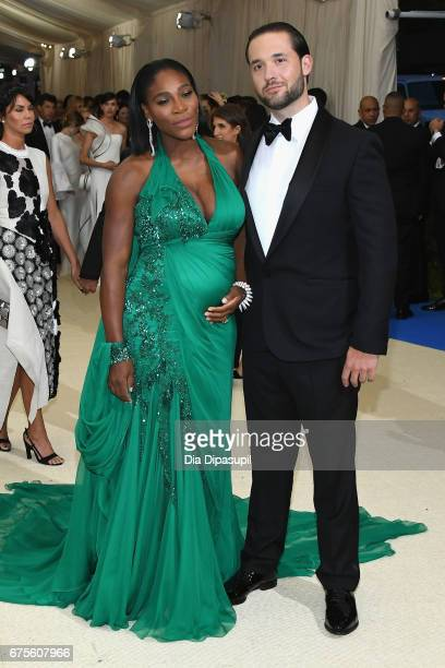Serena Williams and Alexis Ohanian attend the 'Rei Kawakubo/Comme des Garcons Art Of The InBetween' Costume Institute Gala at Metropolitan Museum of...
