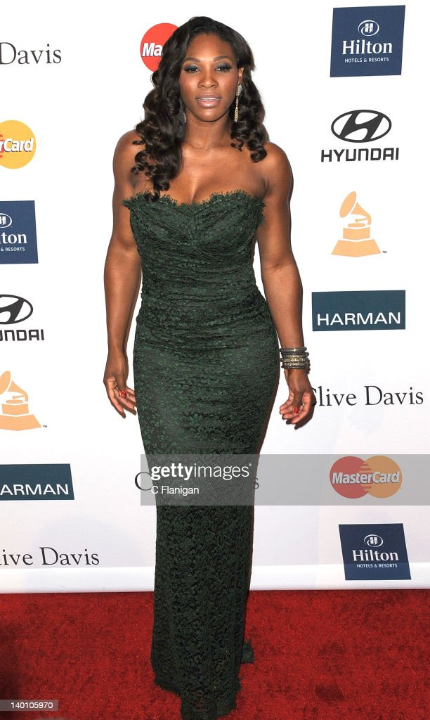<a gi-track='captionPersonalityLinkClicked' href=/galleries/search?phrase=Serena+Williams+-+Tennis+Player&family=editorial&specificpeople=171101 ng-click='$event.stopPropagation()'>Serena Williams</a> arrives at Clive Davis and The Recording Academy's 2012 Salute To Industry Icons Gala at The Beverly Hilton hotel on February 11, 2012 in Beverly Hills, California.