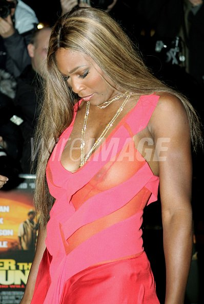 Serena Williams Arrives At The World Film Premiere Of
