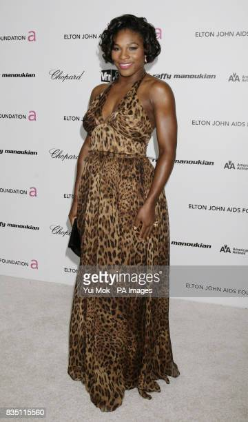 Serena Williams arriving for the 17th annual Sir Elton John AIDS Foundation Oscar Party held at the Pacific Design Center in West Hollywood...