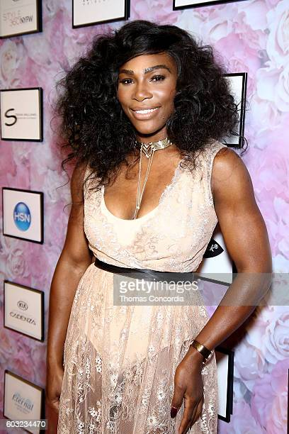 Serena Williams attends HSN Presents Serena Williams Signature Statement Collection Fashion Show at Kia STYLE360 New York Fashion Week at...