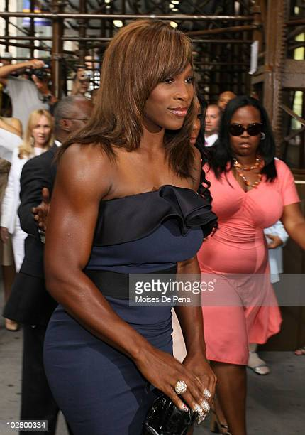 Serena Williams attends La La Vasquez Carmelo Anthony's wedding at Cipriani 42nd Street on July 10 2010 in New York City