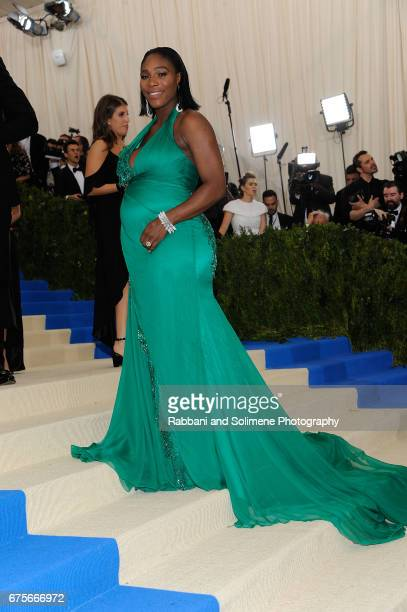 Serena Williams attends 'Rei Kawakubo/Comme des Garcons Art Of The InBetween' Costume Institute Gala Arrivals at Metropolitan Museum of Art on May 1...