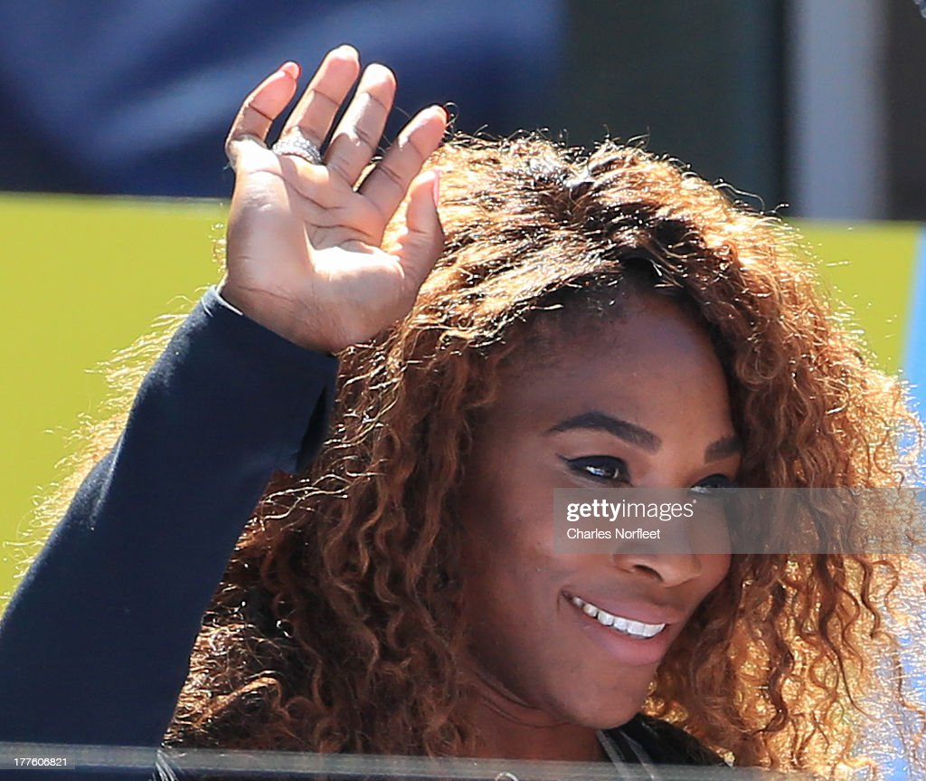 <a gi-track='captionPersonalityLinkClicked' href=/galleries/search?phrase=Serena+Williams&family=editorial&specificpeople=171101 ng-click='$event.stopPropagation()'>Serena Williams</a> attends the 2013 Arthur Ashe Kids Day at USTA Billie Jean King National Tennis Center on August 24, 2013 in the Queens borough of New York City.