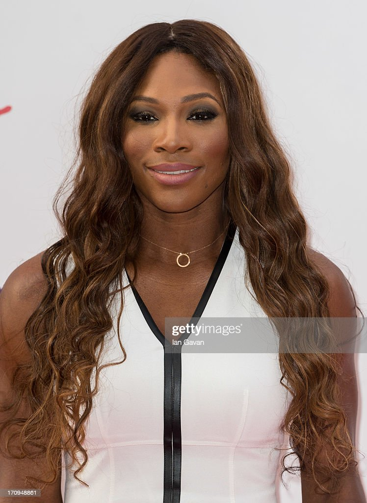 <a gi-track='captionPersonalityLinkClicked' href=/galleries/search?phrase=Serena+Williams+-+Tennis+Player&family=editorial&specificpeople=171101 ng-click='$event.stopPropagation()'>Serena Williams</a> attends the annual pre-Wimbledon party at Kensington Roof Gardens on June 20, 2013 in London, England.