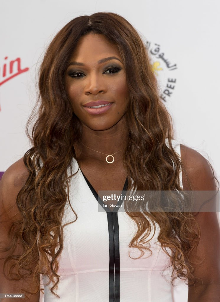 Serena Williams attends the annual preWimbledon party at Kensington Roof Gardens on June 20 2013 in London England