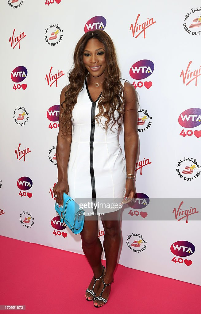 Serena Williams attends the annual WTA preWimbledon party at Kensington Roof Gardens on June 20 2013 in London England