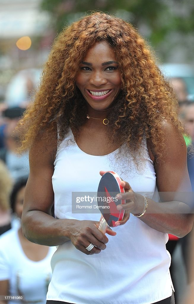 Serena Williams attends the Delta Open Table Tennis Tournament at Madison Square Park on August 21, 2013 in New York City.