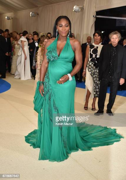 Serena Williams attends the 'Rei Kawakubo/Comme des Garcons Art Of The InBetween' Costume Institute Gala at Metropolitan Museum of Art on May 1 2017...