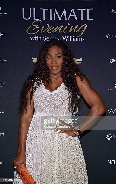 Serena Williams attends The Serena Williams Ultimate Run VIP KickOff on December 12 2014 in Miami Beach Florida