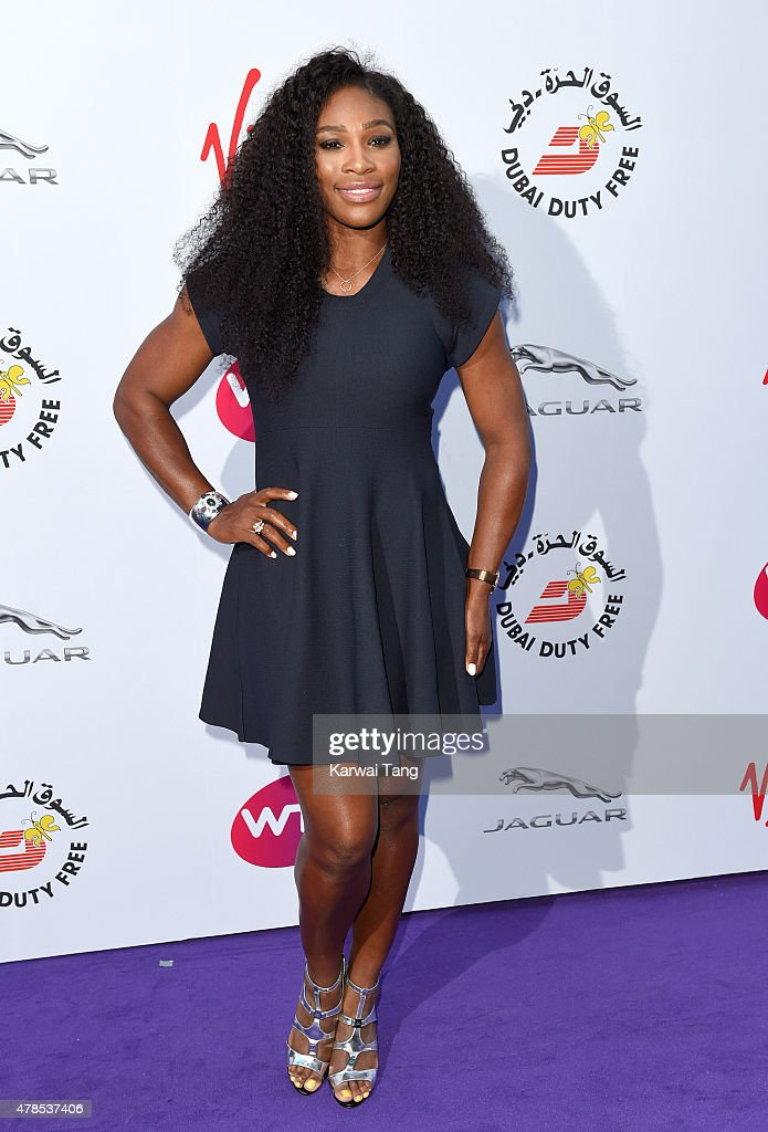 Serena Williams attends the WTA PreWimbledon Party at Kensington Roof Gardens on June 25 2015 in London England