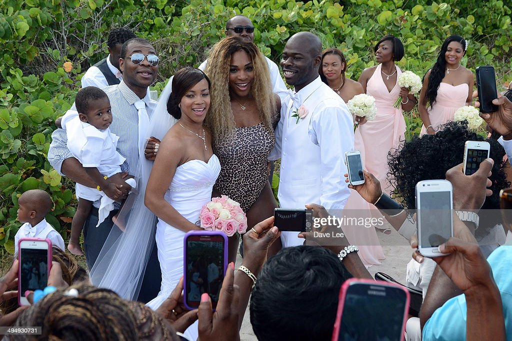 <a gi-track='captionPersonalityLinkClicked' href=/galleries/search?phrase=Serena+Williams+-+Tennis+Player&family=editorial&specificpeople=171101 ng-click='$event.stopPropagation()'>Serena Williams</a> crashes a wedding party at the Soho Beach Hotel on May 31, 2014 in Miami, Florida.
