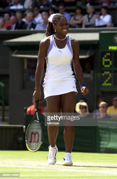 Serena Williams during her semi final match July 2000 at Wimbledon against her sister Venus Williams