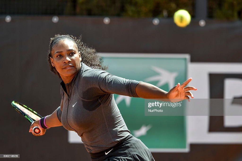 Serena Williams during the double WTA match Venus and Serena Williams vs Andreja Klepac and Katarina Srebotnik at the Internazionali BNL d'Italia...