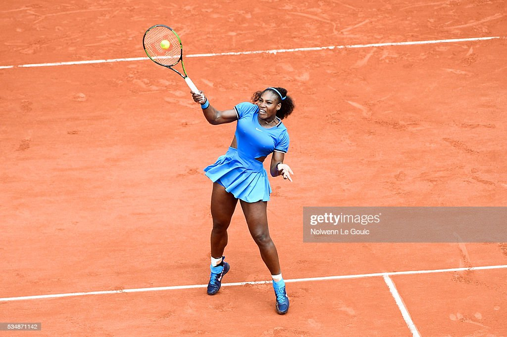 Serena Williams during the Women's Singles third round on day seven of the French Open 2016 on May 28, 2016 in Paris, France.