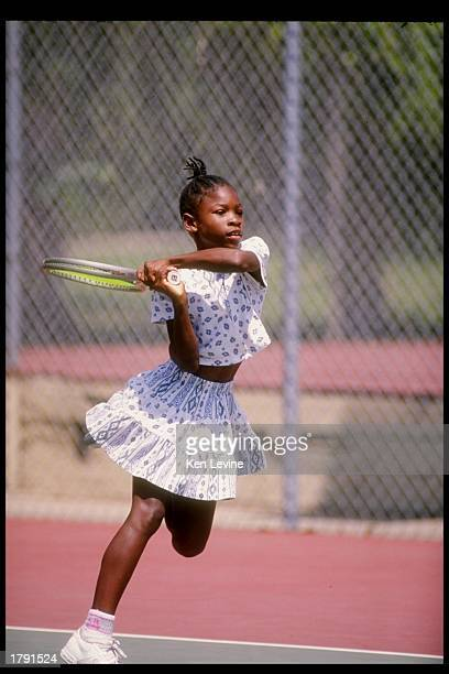 Serena Williams in action on the tennis court