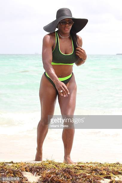Serena Williams is seen on September 13 2014 in Miami Florida