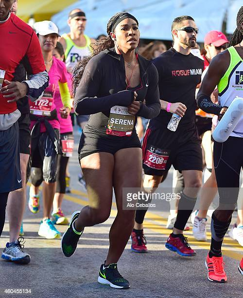 Serena Williams is seen on the Ultimate Run South Beach on December 14 2014 in Miami Florida
