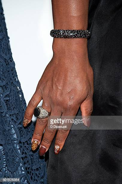 Serena Williams jewelry detail attends the 2015 Sports Illustrated Sportsperson of the Year Ceremony at Pier Sixty at Chelsea Piers on December 15...