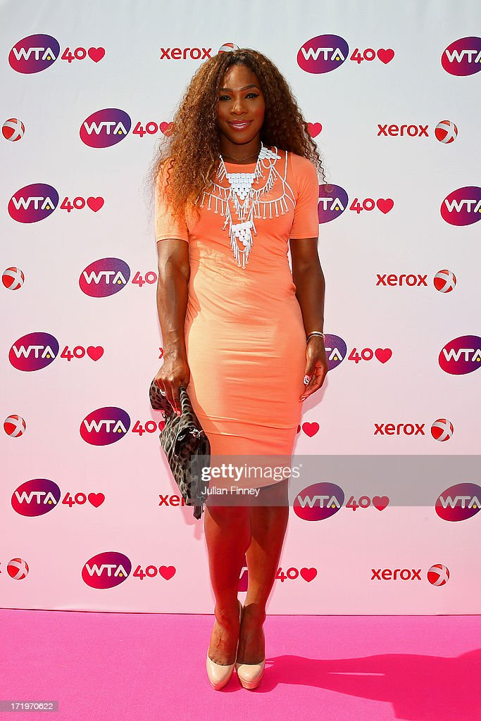 <a gi-track='captionPersonalityLinkClicked' href=/galleries/search?phrase=Serena+Williams&family=editorial&specificpeople=171101 ng-click='$event.stopPropagation()'>Serena Williams</a> of the United States of America arrives for the WTA 40 Love Celebration during Middle Sunday of the Wimbledon Lawn Tennis Championships at the All England Lawn Tennis and Croquet Club on June 30, 2013 in London, England.