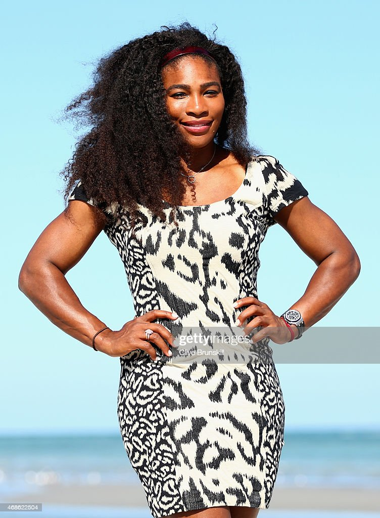 <a gi-track='captionPersonalityLinkClicked' href=/galleries/search?phrase=Serena+Williams&family=editorial&specificpeople=171101 ng-click='$event.stopPropagation()'>Serena Williams</a> of the United States poses for a photograph on Crandon Park beach after her straight sets victory against Carla Suarez Navarro of Spain in the final during the Miami Open Presented by Itau at Crandon Park Tennis Center on April 4, 2015 in Key Biscayne, Florida.