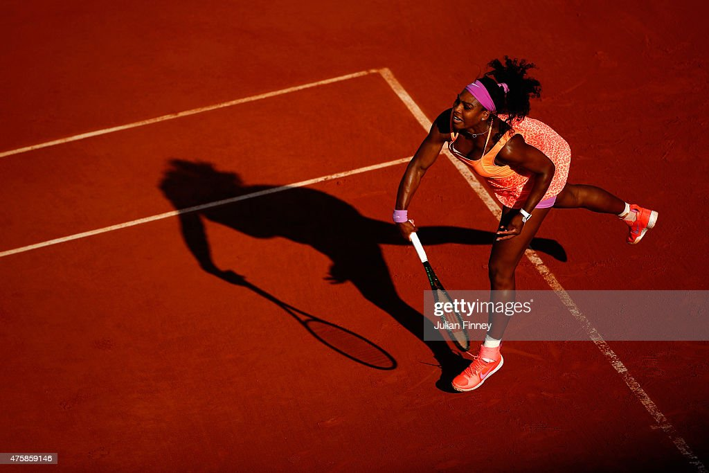 Williams (CA) United States  city pictures gallery : Serena Williams of the United States serves during her Women's Semi ...