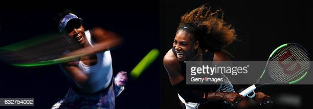 COMPOSITE OF TWO IMAGES Image numbers 632342200 and 632427600 In this composite image a comparision has been made between Venus Williams of the...