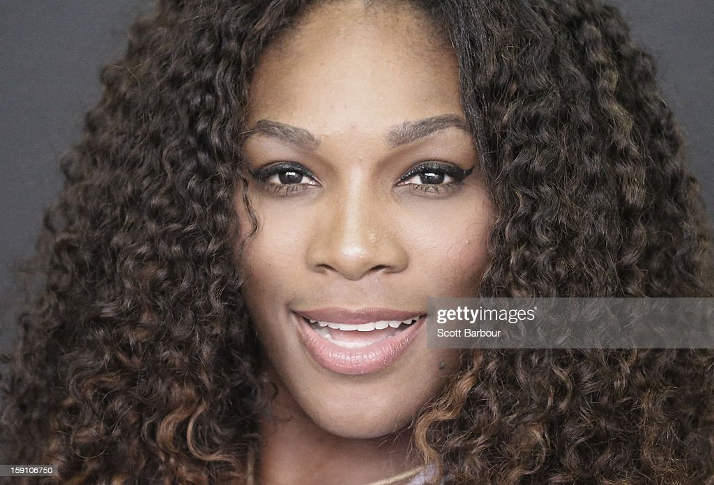 <a gi-track='captionPersonalityLinkClicked' href=/galleries/search?phrase=Serena+Williams&family=editorial&specificpeople=171101 ng-click='$event.stopPropagation()'>Serena Williams</a> of the USA poses during the launch of her Nike Training Club app workout on January 8, 2013 in Melbourne, Australia.