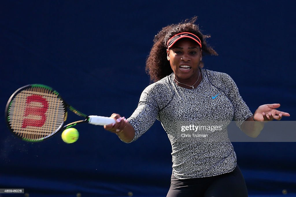 Williams (IA) United States  city photo : Serena Williams of United States, hits a ball during a practice ...