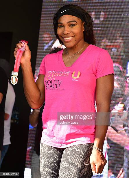 Serena Williams participates in The Serena Williams Ultimate Run karaoke afterparty and Award ceremony at Clevelander South Beach on December 14 2014...