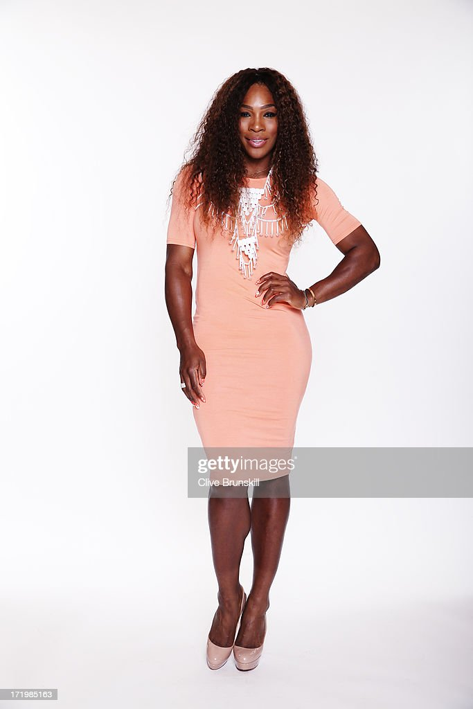 This image has been retouched) <a gi-track='captionPersonalityLinkClicked' href=/galleries/search?phrase=Serena+Williams+-+Tennis+Player&family=editorial&specificpeople=171101 ng-click='$event.stopPropagation()'>Serena Williams</a> poses for an exclusive photoshoot during the WTA 40 Love Celebration on Middle Sunday of the Wimbledon Lawn Tennis Championships at the All England Lawn Tennis and Croquet Club at Wimbledon on June 30, 2013 in London, England.