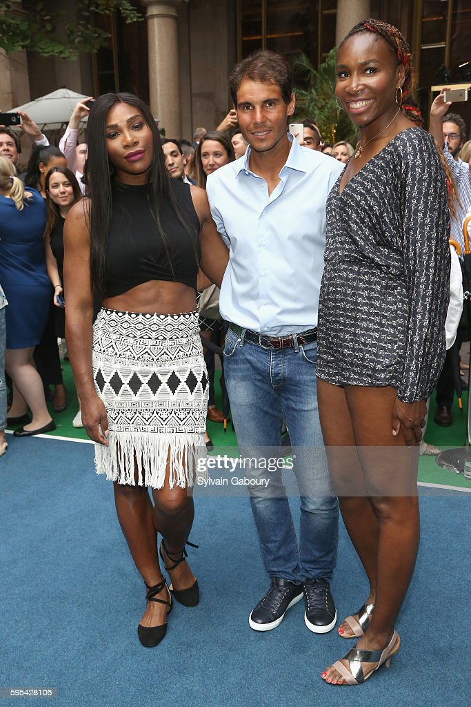 Serena Williams Rafael Nadal and Venus Williams attend Rafael Nadal Serena Williams and Venus Williams Hold A Virtual Tennis Tournament at Lotte New...