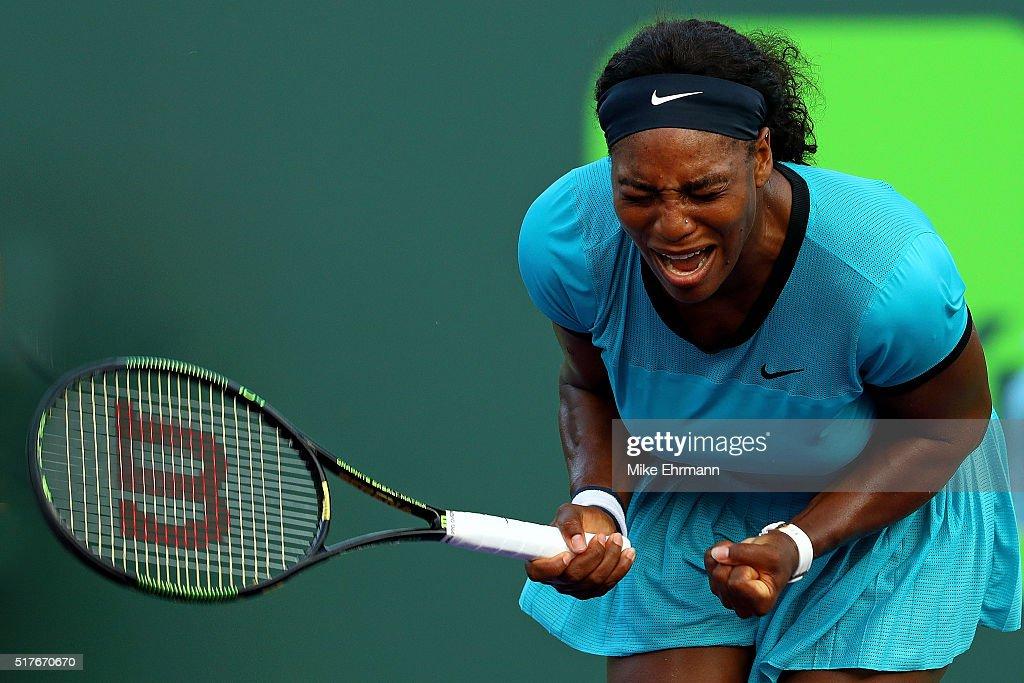 Despite Sweltering Heat Serena Williams Prevails at Miami Open