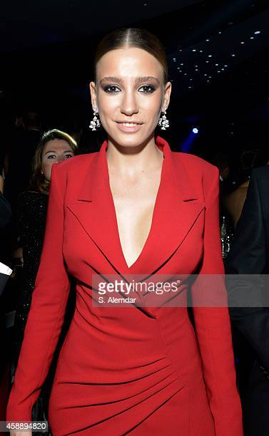 Serenay Sarikaya attends the GQ Turkey Men of the Year awards' afterparty at Four Season Bosphorus Hotel on November 12 2014 in Istanbul Turkey