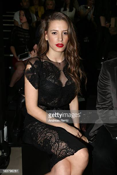 Serenay Sarikaya attends the Soul By Ozgur Masur show during Mercedes Benz Fashion Week Istanbul Fall/Winter 2013/14 at Antrepo 3 on March 15 2013 in...