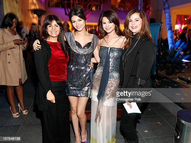 Serene Justice actress Victoria Justice singer/actress Selena Gomez and Mandy Teefey attend the 2010 Hollywood Style Awards with The Palazzo Las...