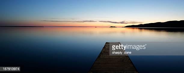 XL serene lake with dock