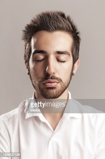 Serene Man Stock Photo | Getty Images