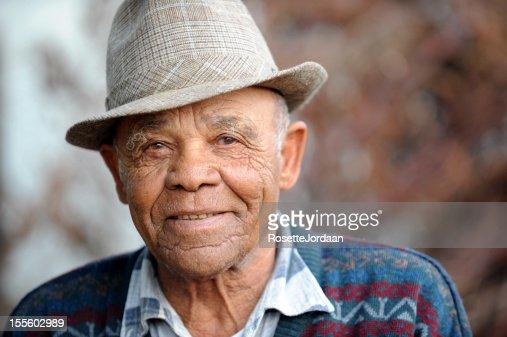 Serene Old Man smiling