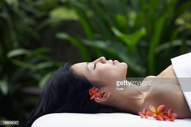Serene Woman on Massage Table